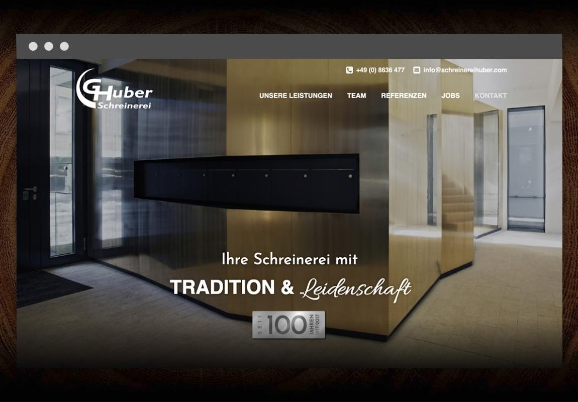 Schreinerei Huber Website 2